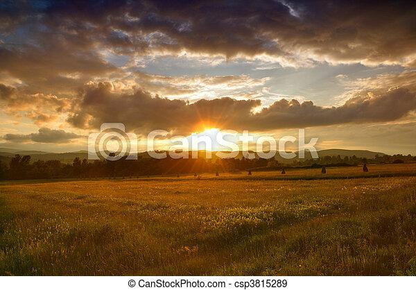 Summer sunset - csp3815289