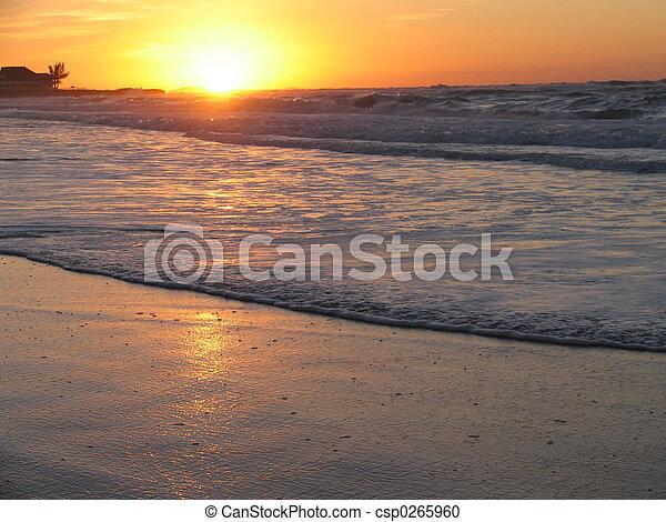 summer sunset - csp0265960