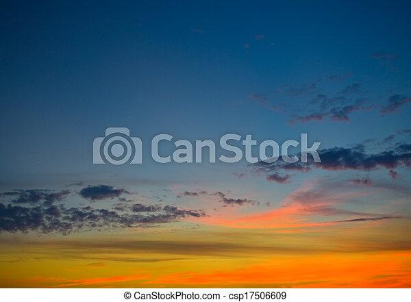 Summer sunset - csp17506609