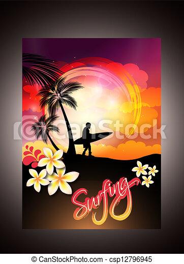 Summer Surfing - csp12796945