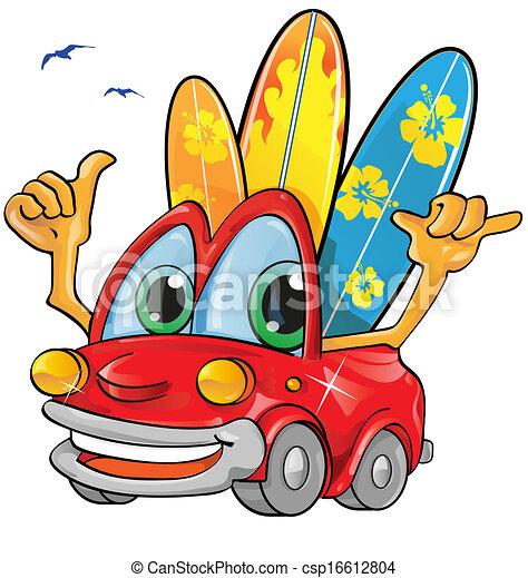 summer time car cartoon - csp16612804