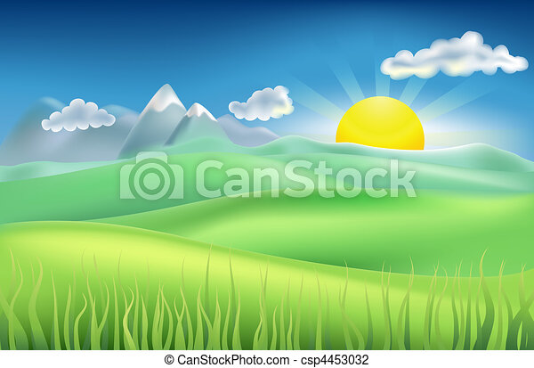 summer time field - csp4453032