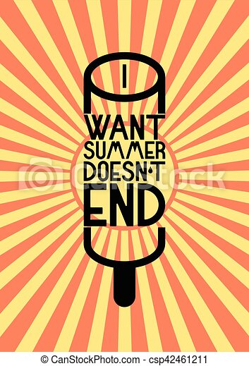 Summer time phrase typographical poster. Vector illustration. - csp42461211