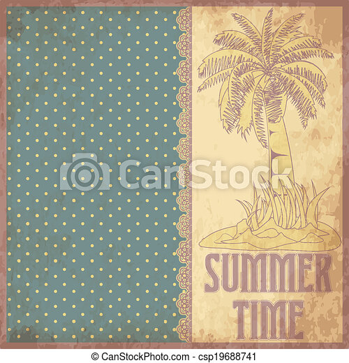 Summer time scrapbooking background - csp19688741