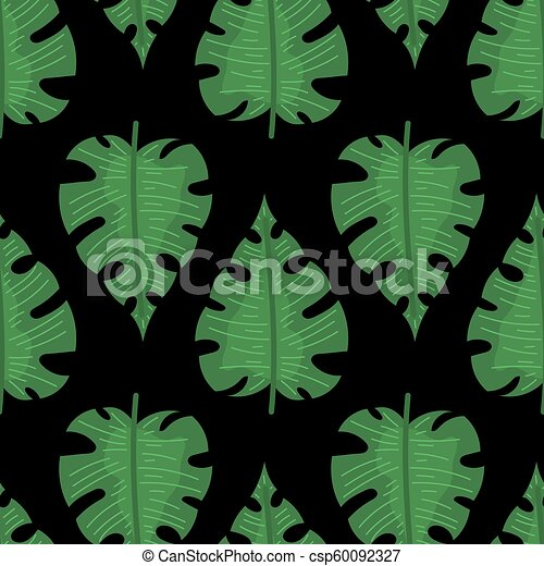 Summer Tropical Seamless Pattern Seamless Pattern With Tropical Leaves Doodle Style Vector This set of watercolor tropical leaf illustrations is perfect for creating summer wall art, wedding invitations, birthday cards and so much more! can stock photo
