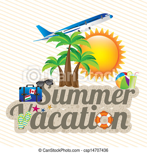 summer vacation design over white background vector illustration rh canstockphoto com summer vacation clipart images summer vacation homework clipart
