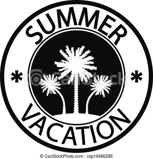 Summer Vacation Stamp On White Background