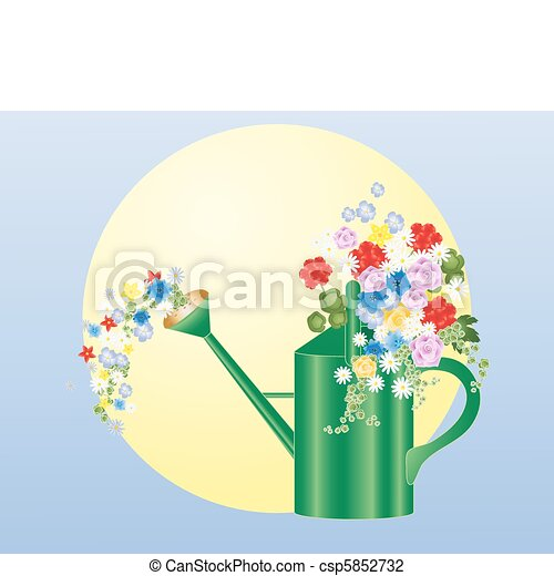 summer watering can - csp5852732