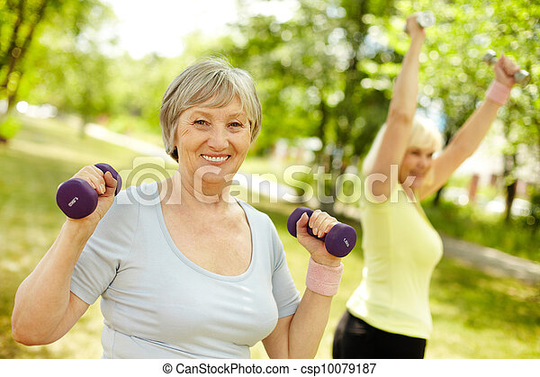 Workout with mature