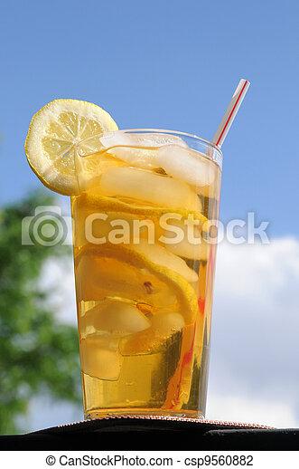 Summertime iced tea - csp9560882