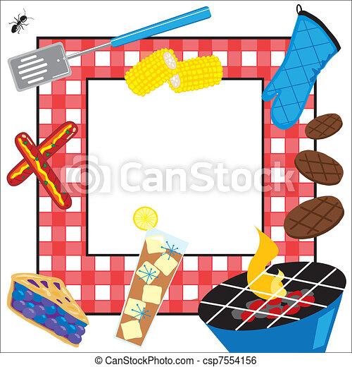 Summertime Picnic Party Invitation - csp7554156
