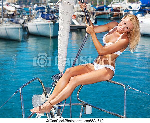Summertime sailing vacation - csp8831512