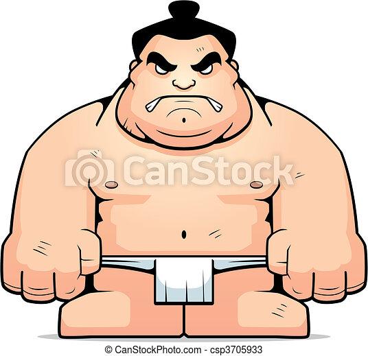 Gran luchador de sumo - csp3705933