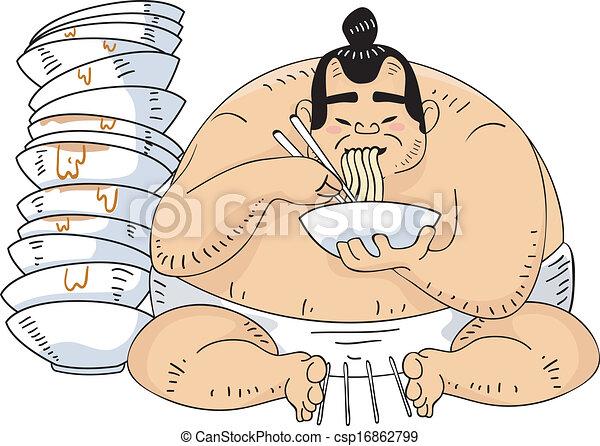 Ramen luchador de Sumo - csp16862799