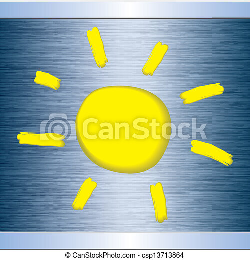 Sun abstract background - csp13713864