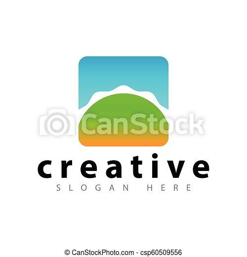 Sun abstract Logo icon vector template - csp60509556