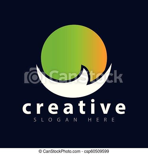 Sun abstract Logo icon vector template - csp60509599