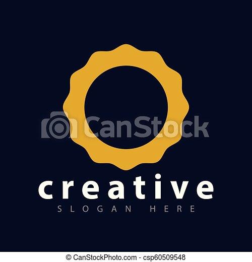 Sun abstract Logo icon vector template - csp60509548