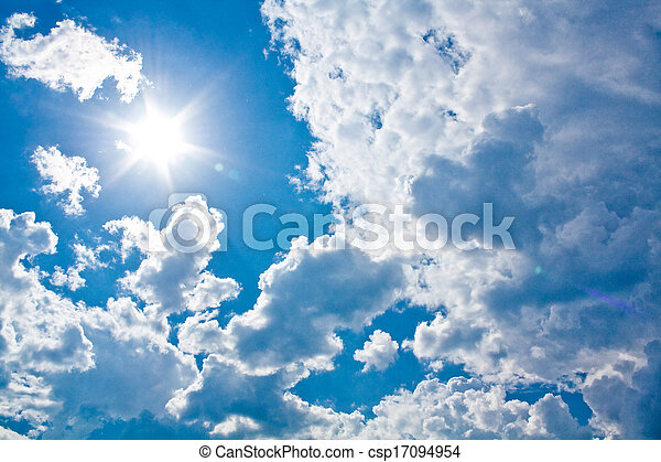 Sun against clouds - csp17094954