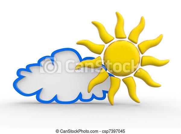 Sun and cloud - csp7397045