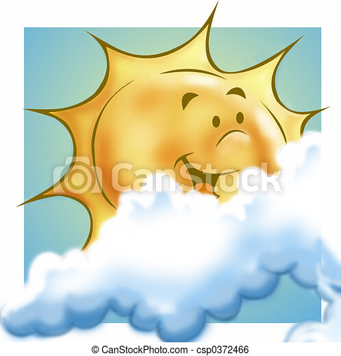 Sun and clouds - csp0372466