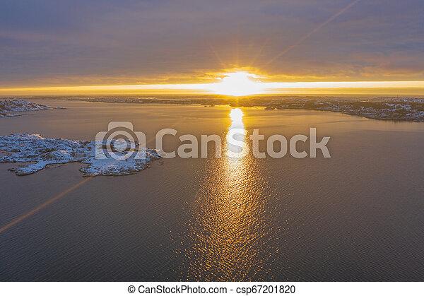 Sun beams at the sea - csp67201820