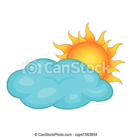 sun behind clouds icon cartoon style sun behind clouds clipart rh canstockphoto com