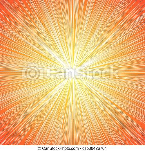 Sun Burst Blast Background - csp38426764