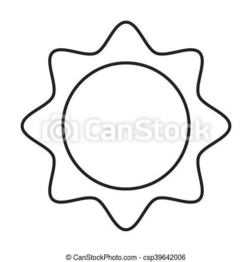 sun cartoon abstract design - csp39642006