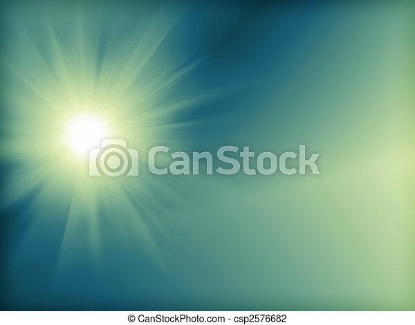 Sun Digitally Generated Image - csp2576682