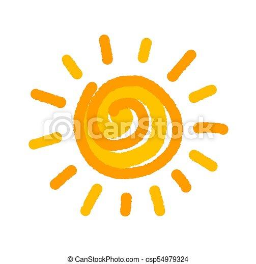Sun drawing symbol