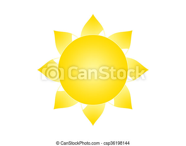 Sun Symbol Of The Sun On A White Background