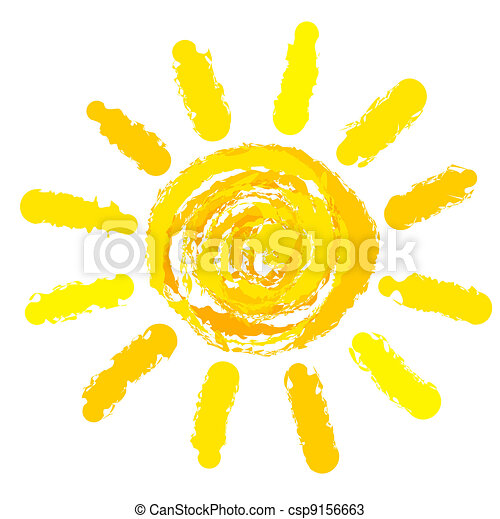 Sun drawn - csp9156663