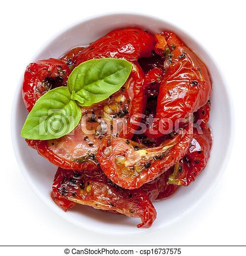 sun dried tomatoes isolated sun dried tomatoes garnished picture rh canstockphoto ca Sun-Dried Tomato Cafe Sun-Dried Tomato Pesto