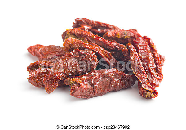 sun dried tomatoes on white background stock photographs search rh canstockphoto co uk Sun-Dried Tomato Alfredo Sauce Sun-Dried Tomato Sauce