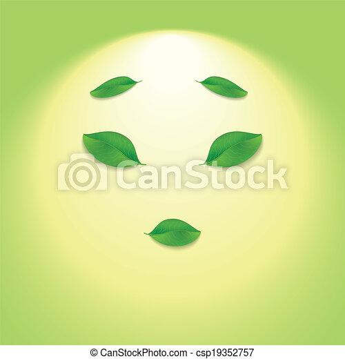 Sun face. - csp19352757