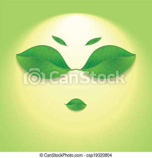 Sun face. - csp19320804