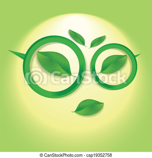 Sun face with glasses. - csp19352758