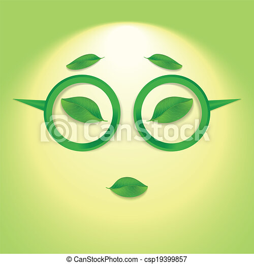 Sun face with glasses. - csp19399857