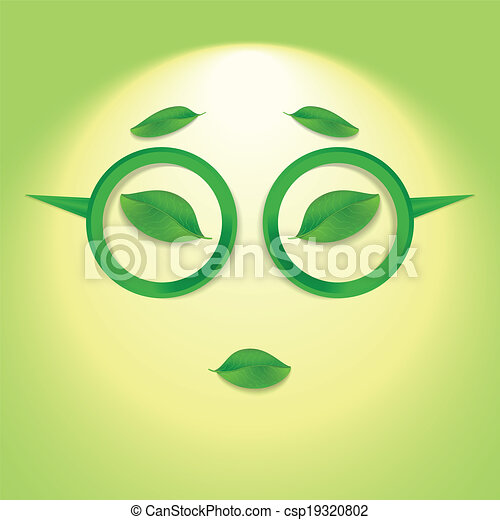Sun face with glasses. - csp19320802