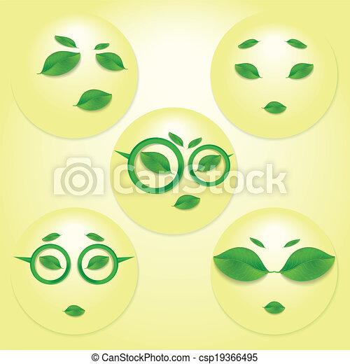 Sun faces. - csp19366495