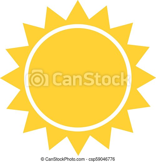 Sun flat icon vector. Summer pictogram. Sunlight symbol. for website design, web button, mobile app illustration - csp59046776