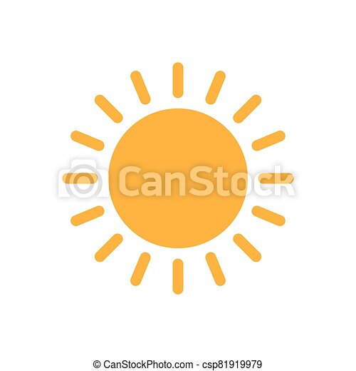 Sun flat icon vector. Summer pictogram. Sunlight symbol. for website design, web button, mobile app illustration - csp81919979