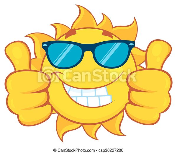 Sun Giving A Double Thumbs Up - csp38227200