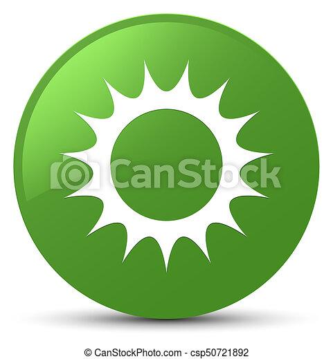 Sun icon soft green round button - csp50721892