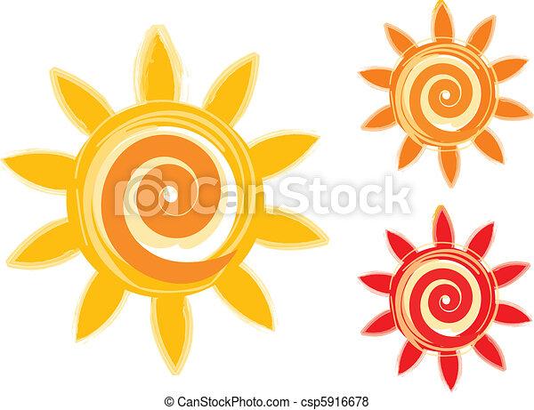sun icons - csp5916678