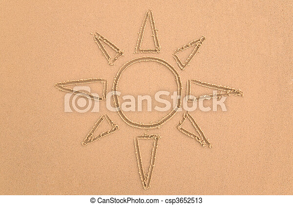 Sun in the sand - csp3652513