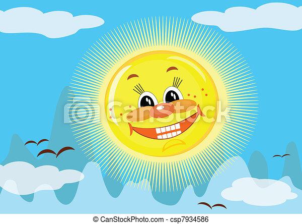Sun in the sky - csp7934586