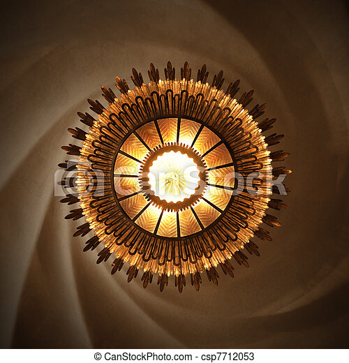 Sun Lamp in Casa Batllo designed by Gaudi - csp7712053
