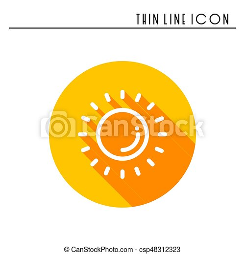 Sun Line Simple Icon Weather Symbols Meteorology Forecast Design